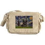 Starry / Black Skye Terrier Messenger Bag
