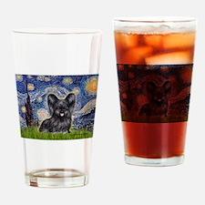 Starry / Black Skye Terrier Drinking Glass