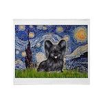 Starry / Black Skye Terrier Throw Blanket