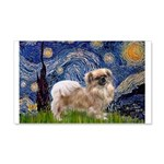 Starry / Tibetan Spaniel 20x12 Wall Decal