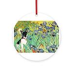 Irises / Toy Fox T Ornament (Round)