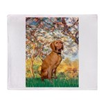 Spring / Vizsla Throw Blanket