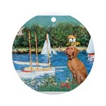 Sailboats / Vizsla Ornament (Round)