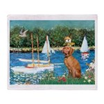Sailboats / Vizsla Throw Blanket