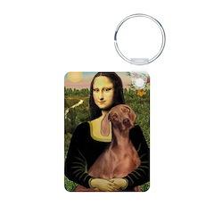 Mona Lisa / Weimaraner Keychains