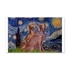 Starry / 2 Weimaraners Wall Decal