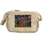 Starry / 2 Weimaraners Messenger Bag