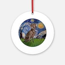 Starry / Weimaraner Ornament (Round)