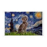 Starry / Weimaraner 20x12 Wall Decal