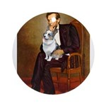 Lincoln's Corgi (Bl.M) Ornament (Round)