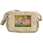 Garden / Corgi (bm) Messenger Bag