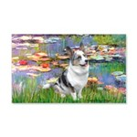 Lilies (#2) - Corgi (Bl.M) 20x12 Wall Decal
