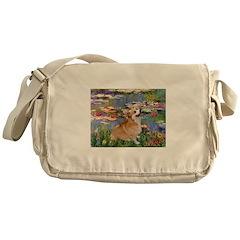 Lilies (2) & Corgi Messenger Bag