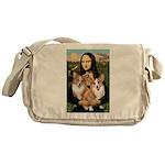 Mona / Corgi Pair (p) Messenger Bag