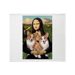 Mona / Corgi Pair (p) Throw Blanket