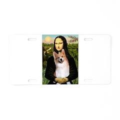 Mona Lisa / Welsh Corgi(p) Aluminum License Plate