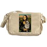 Mona's Corgi (Bl.M) Messenger Bag