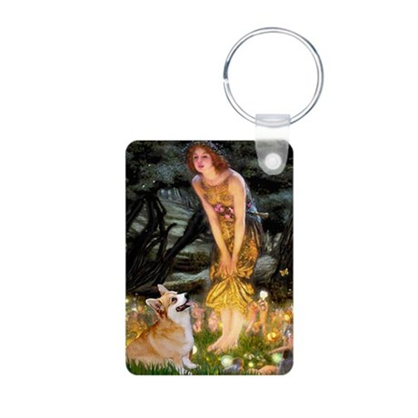Fairies & Corgi Aluminum Photo Keychain