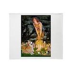 Fairies & Corgi Throw Blanket