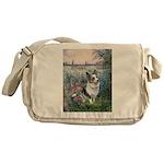 The Seine - Corgi (Bl.M) Messenger Bag