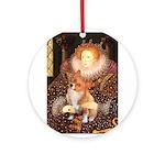 Queen / Welsh Corgi Ornament (Round)