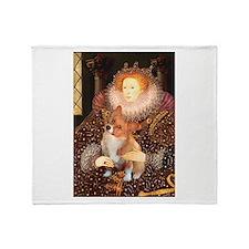 Queen / Welsh Corgi Throw Blanket