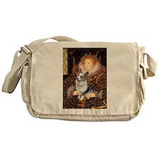 The Queen's Corgi (Bl.M) Messenger Bag