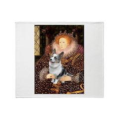 The Queen's Corgi (Bl.M) Throw Blanket