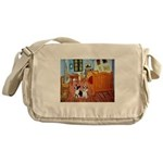 Room / Corgi pair Messenger Bag