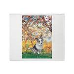 Spring - Corgi (Bl.M) Throw Blanket