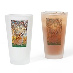 Spring / Corgi Drinking Glass