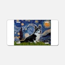 Starry Night / Welsh Corgi(bi Aluminum License Pla