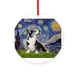 Starry Night / Welsh Corgi Ornament (Round)