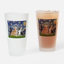 Starry Night / Corgi pair Drinking Glass