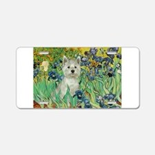 Irises / Westie Aluminum License Plate