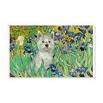 Irises / Westie 20x12 Wall Decal