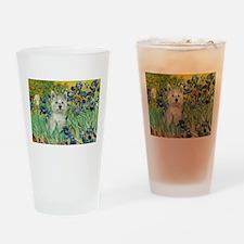 Irises / Westie Drinking Glass