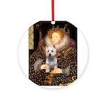 Queen Liz & Her Westie Ornament (Round)
