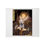 Queen Liz & Her Westie Throw Blanket