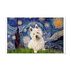 Starry Night/Westie Wall Decal