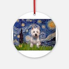 Starry - Westie (P) Ornament (Round)