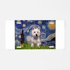 Starry - Westie (P) Aluminum License Plate