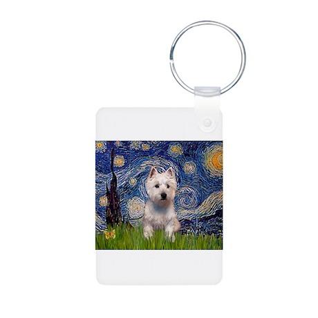 Starry - Westie (P) Aluminum Photo Keychain