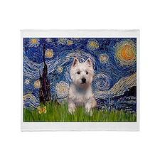 Starry - Westie (P) Throw Blanket