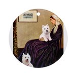 Whistlers Mom/2 Westies Ornament (Round)