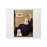 Whistlers Mom/2 Westies Throw Blanket