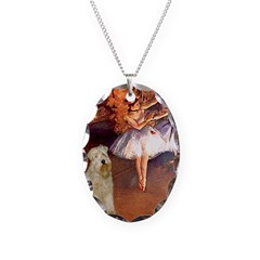 Dancer1/Wheaten T (7) Necklace Oval Charm