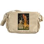Fairies & Wheaten Terrier Messenger Bag