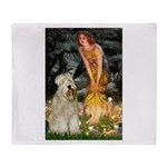 Fairies & Wheaten Terrier Throw Blanket