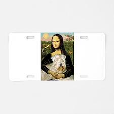 Mona's Wheaten Aluminum License Plate